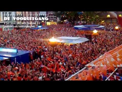 Nederland in finale WK 2010, Nederland verslaat Uruguay met 2-3, DE VOORUITGANG, MARKT EINDHOVEN