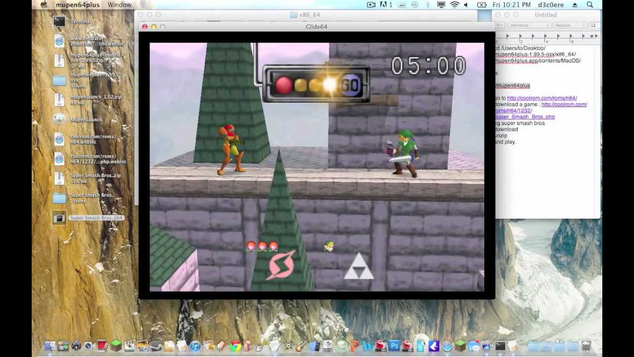 How to set up mupen64plus on mac