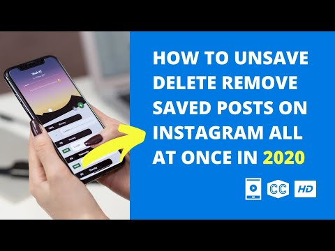 How To Unsave Delete Remove Saved Posts On Instagram All At Once | Mobile Video