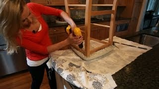 How to Reupholster Kitchen Chairs in Different Patterns : Interior Design 101