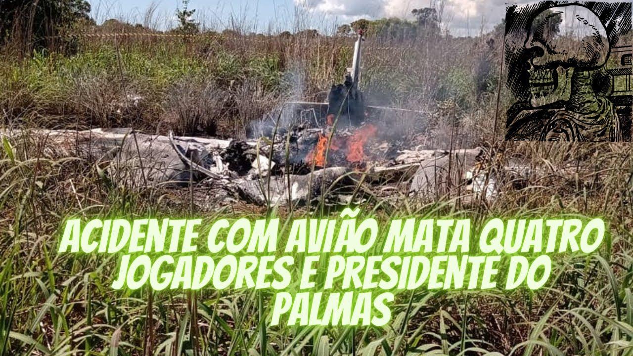 Avião cai e mata quatro jogadores e presidente do Palmas - YouTube
