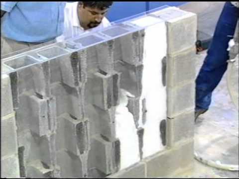 Corefoam masonry foam insulation youtube for Concrete foam insulation