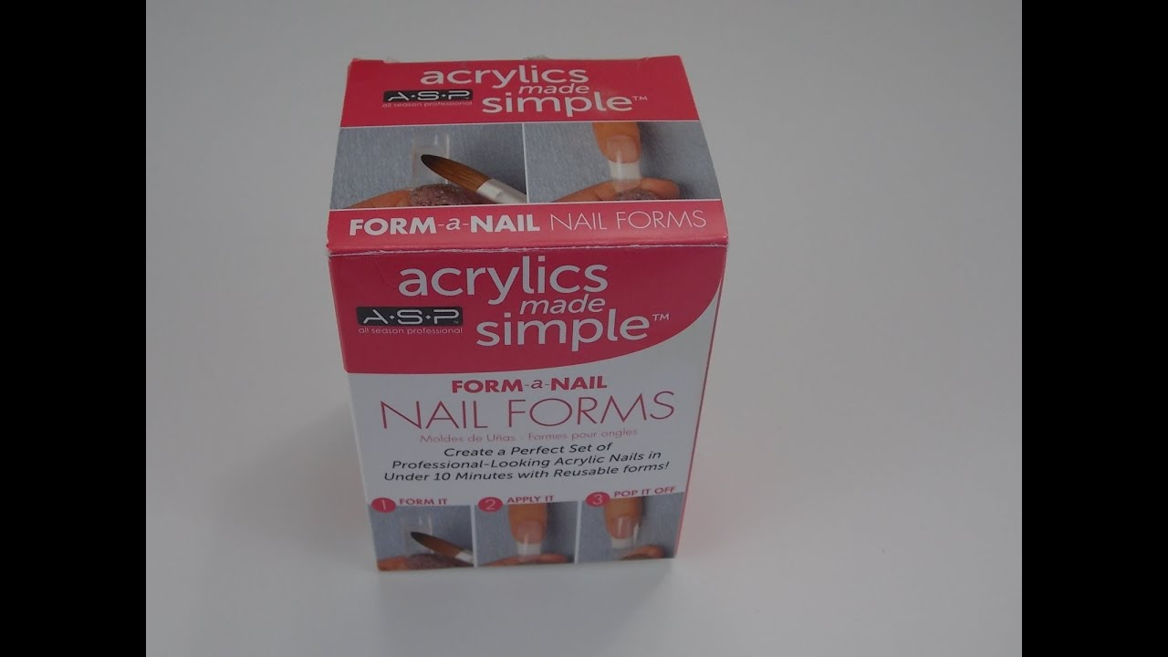 Review Asp Dual Forms For Acrylic Gel Nails Acrylics Made Simple You