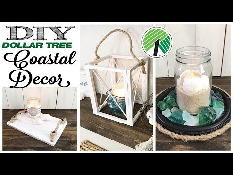 DIY Dollar Tree Farmhouse Coastal Decor | 3 PROJECTS!
