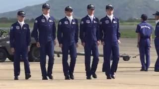芦屋基地航空祭2016 ブルーインパルス・ウォークダウン 山崎さんデビュー