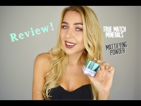 L'oréal TRUE MATCH MINERALS Mattifying Powder Review | Ingrida G