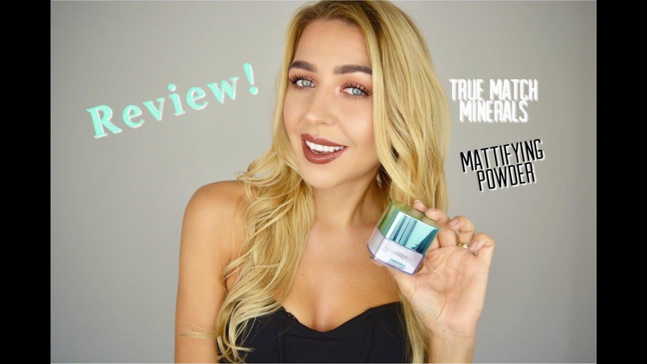 L'oréal TRUE MATCH MINERALS Mattifying Powder Review | Ingrida G
