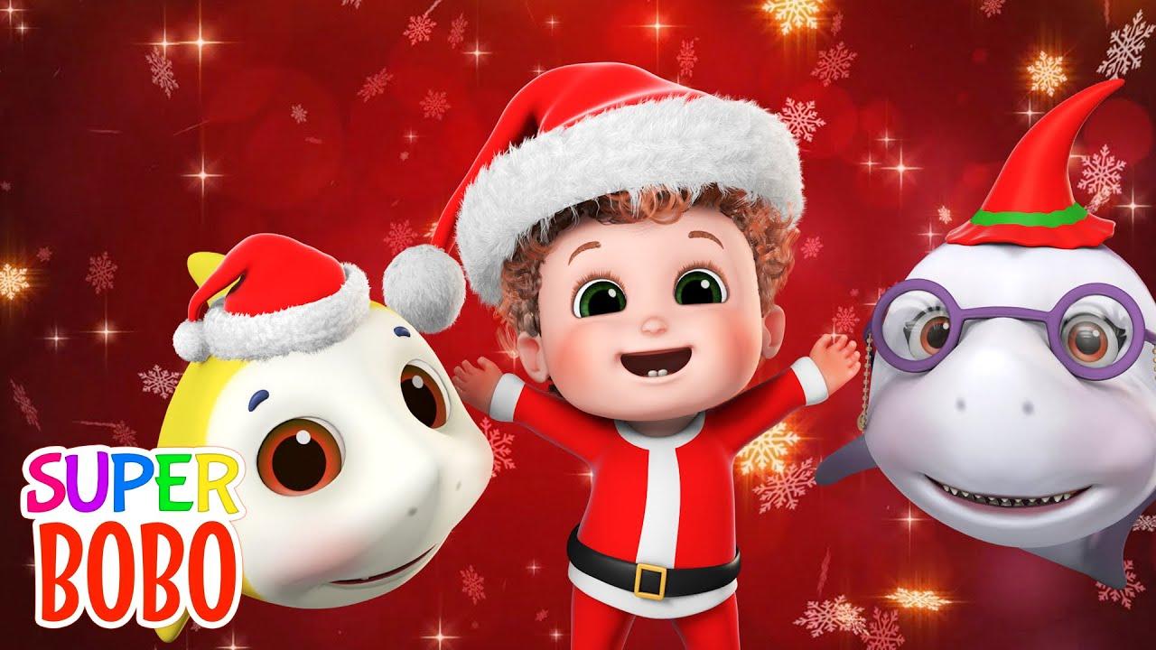 We Wish You a Merry Christmas   Baby Shark Santa Is Coming   Nursery Rhymes & Kids Songs   Blue Fish