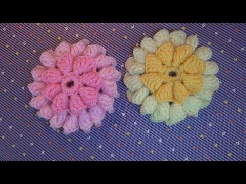 Hướng dẫn móc hoa cúc 2 lớp nhiều cánh