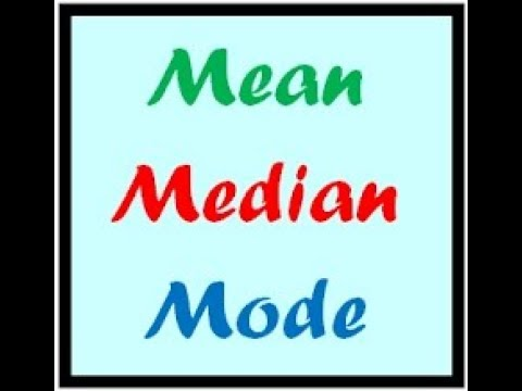 Calculation of mean(simple series)