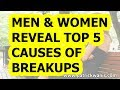 Men and Women Reveal Top 5 Causes of Breakups - Survey