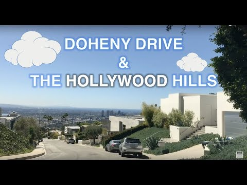 Tour of Doheny Drive and the bird streets area in the Sunset Strip - Hollywood Hills area of L.A.