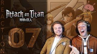 SOS Bros React - Attack on Titan Season 3 Episode 7 - Humans vs. Humans