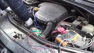рено Логан.Троит двигатель,меняю провода вв и синие лампы