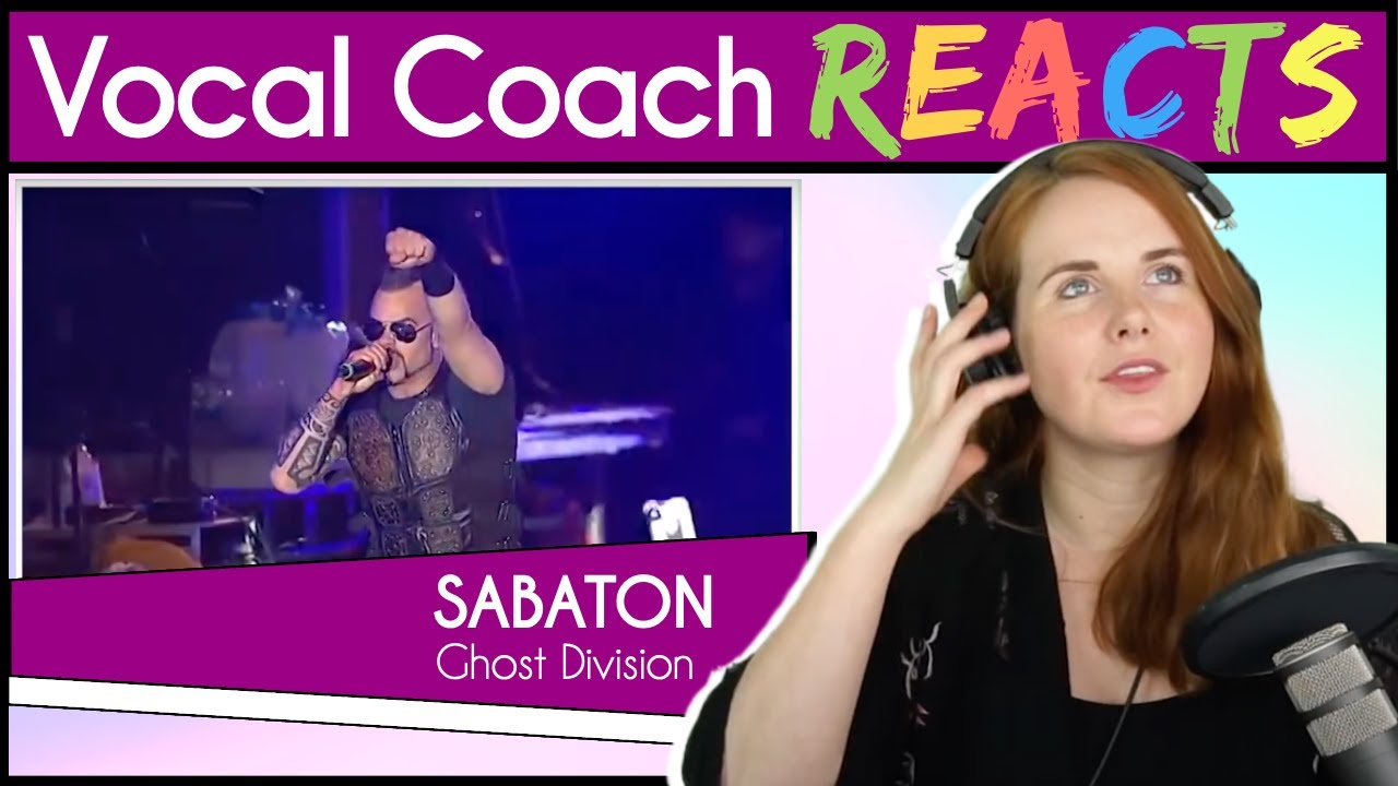 Vocal Coach reacts to Sabaton - Ghost Division (Joakim Broden Live)