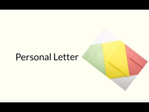 How To Write A Personal Letter YouTube