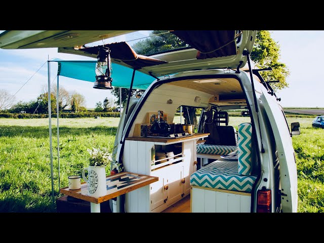 Musician Builds Tiny Budget Camper Van | Full Time-lapse
