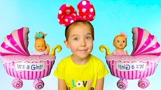 Сюрприз под дверью кукольные качели и кукольная коляска для Маши. Мечты сбываются