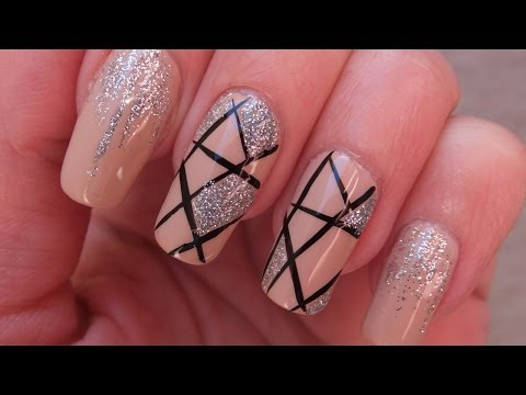 Elegant Nude And Silver Prom Nail Art Design Tutorial