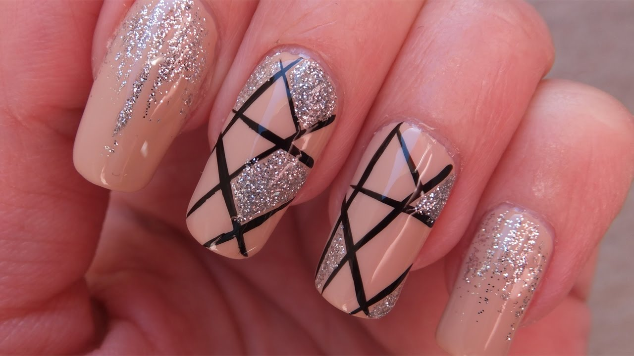 Glitter ombre | easy diy prom nails tutorials step by step | diy.