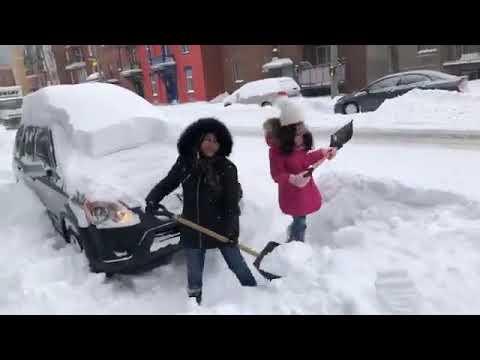Montreal , Canada Snowfall | Real News | 2018 |