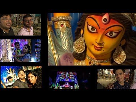 Kolkata Puja 2017, BALLYGUNG CULTURAL, TRIDHARA, EKDALIA, DUM DUM PARK PART- I. Kolkata Vlog.