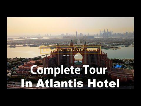 Visiting To Atlantis Hotel The Palm Dubai | One Night Complete Tour At Atlantis Hotel Dubai UAE
