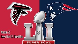 Madden 17 Super Bowl 51 Simulation Full Game