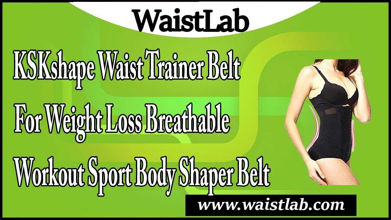 579e437067 KSKshape Waist Trainer Belt for Weight Loss Breathable Workout Sport ...