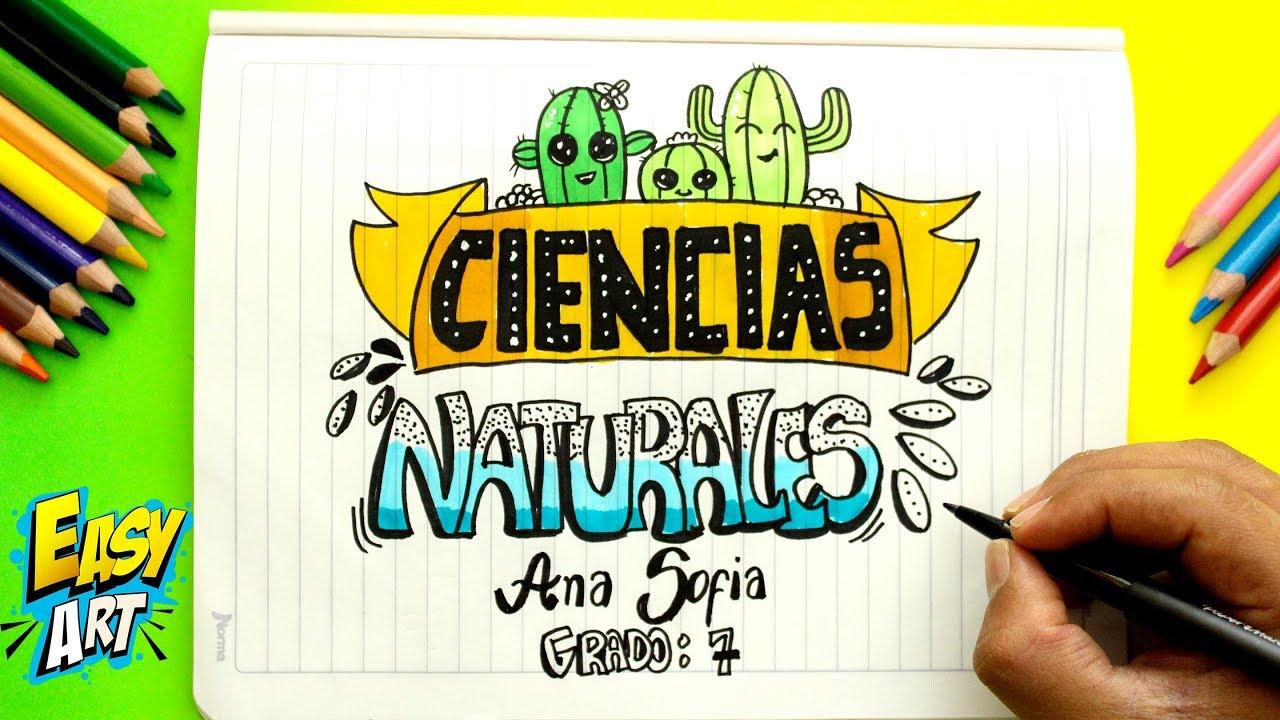 Ideas Para Decorar Y Marcar Tus Cuadernos Portadas De Ciencias Naturales Cute Diy Youtube