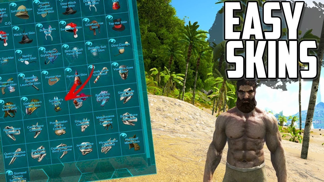 How To Get All Ark Skins In Under 5 Minutes Ark Survival Evolved