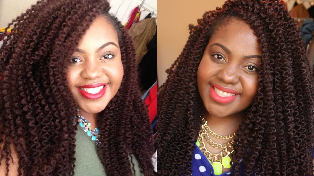 Long Crochet Braids Model Glance Braid Caribbean Twist