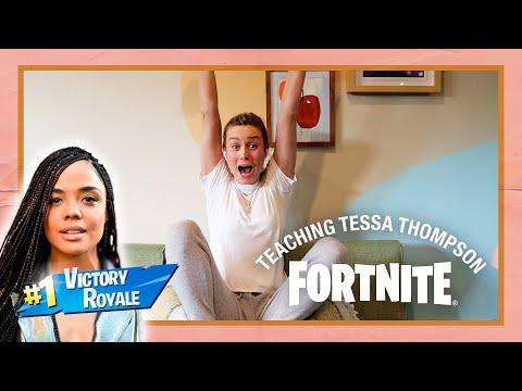 Teaching Tessa Thompson How To Play Fortnite!