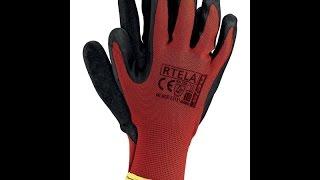 Перчатки из полиэстера, покрытые латексом Rtela