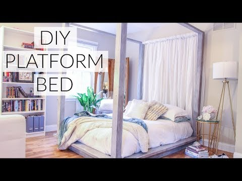 DIY Four Poster Bed Part 1 - How to Decorate Bedroom On A Budget - Restoration Hardware Hacks