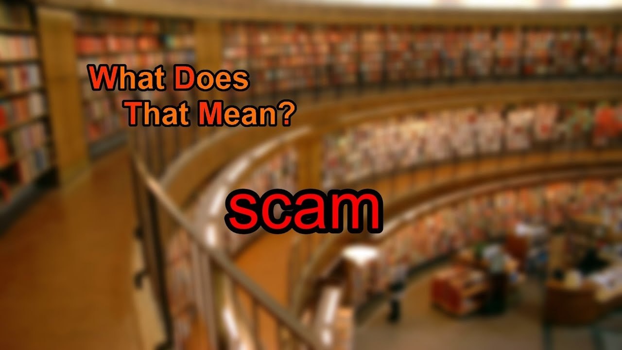what does a scam mean