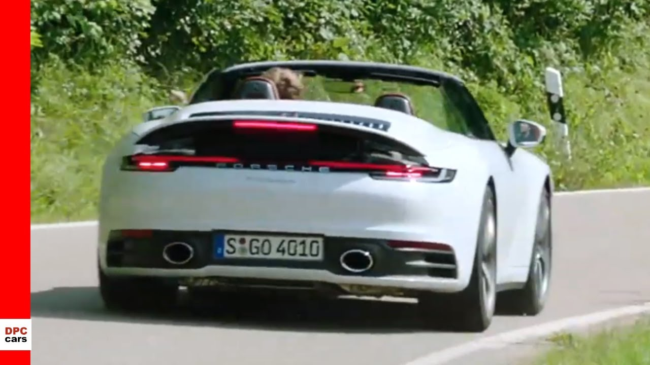 2020 Porsche 911 992 Carrera Cabriolet Carrara White Youtube