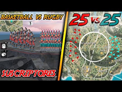 EL MEJOR 25 VS 25 en FREE FIRE | BASKETBALL vs RUGBY (SALA PRIVADA) | Kurko