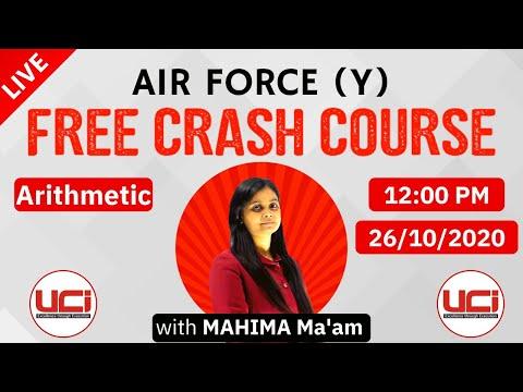 FREE CRASH COURSE || AIR FORCE (Y GROUP) || LIVE WITH MAHIMA MA'AM ||26-10-2020