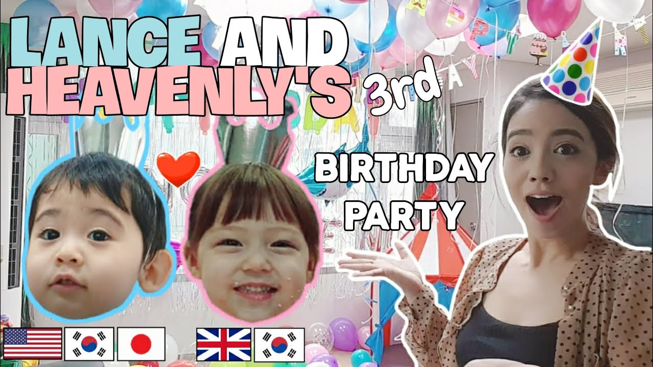 LANCE and HEAVENLY'S 3rd B-Day Party🎁렌스 생애 첫 3살 생일파티 feat.헤븐리🎁 ランス3歳人生初の誕生パーティfeat.ヘブンリー