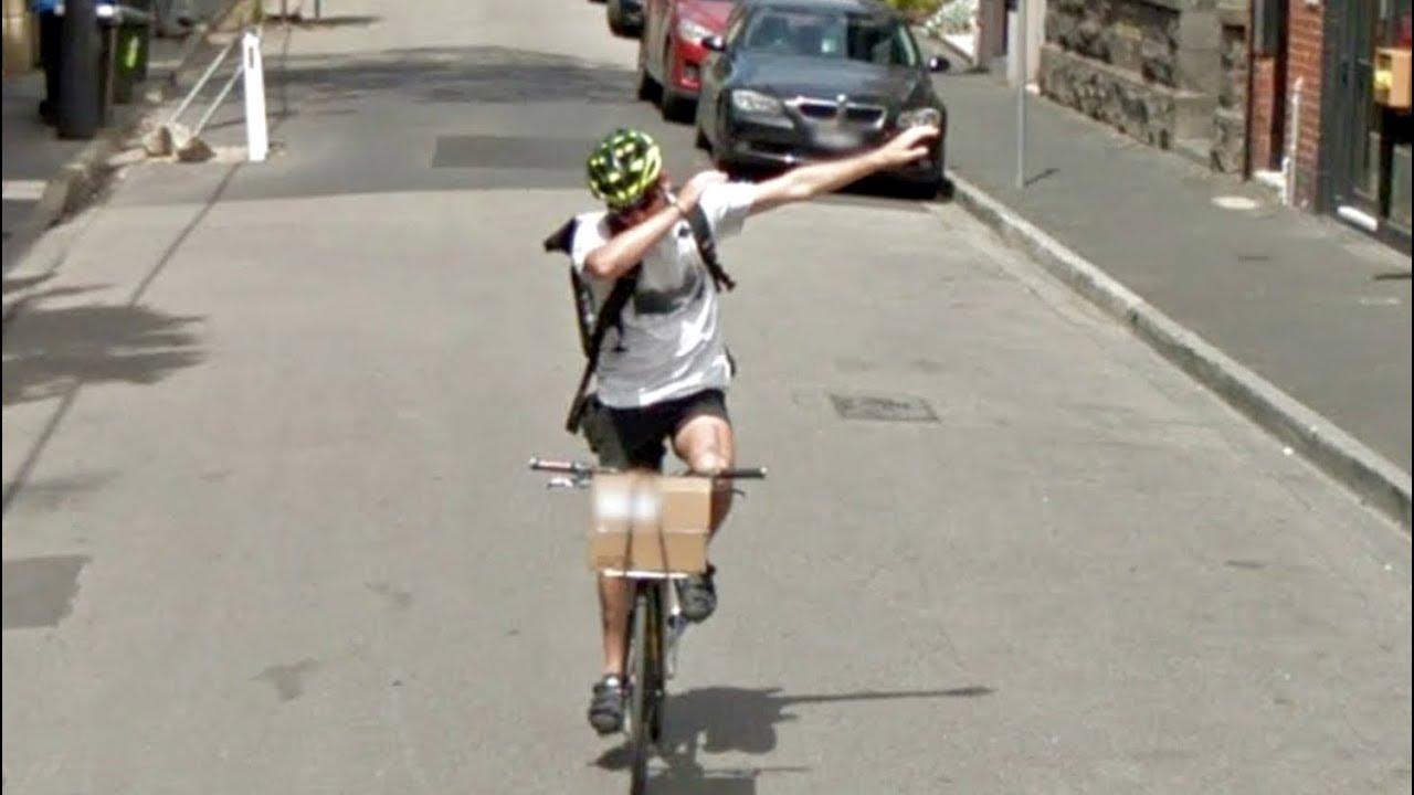 Cyclist dab google car down the entire street youtube - Lustige bilder google ...