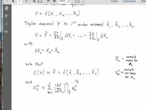 UCSB ChE132C (Probability and Statistics) - Error Propagation