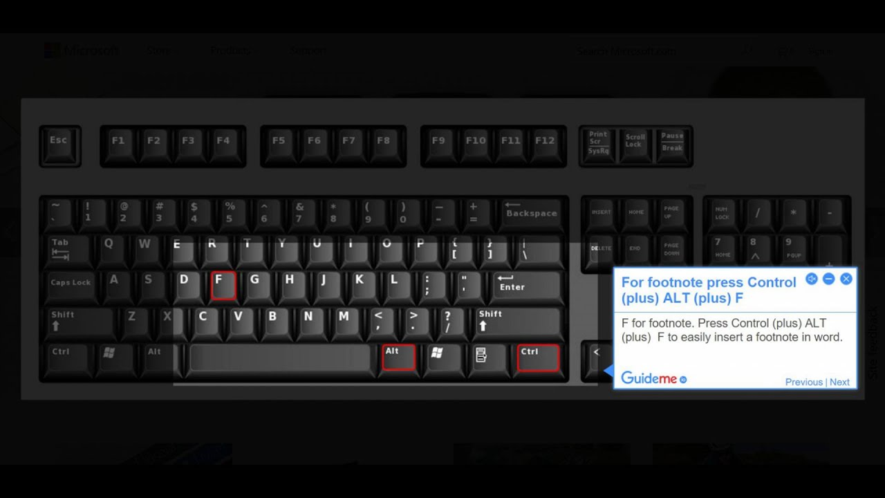 How to insert on the keyboard