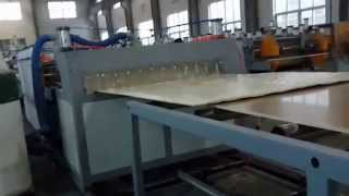 Romania Customer Pvc Wpc Co-extrusion Crust Foam Board Machine