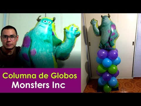 columna de globos fiesta monsters inc