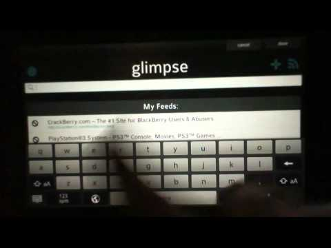 """BB Playbook Free App Review - """"glimpse"""""""