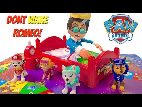 Paw Patrol Don't Wake Romeo Daddy Board Game