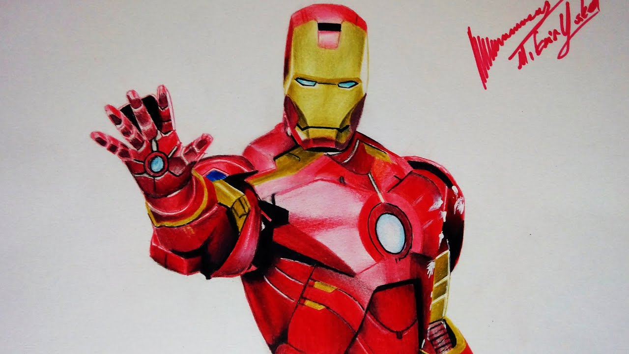 Iron Man çizimi Demir Adam Youtube