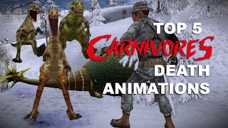 TOP 5 CARNIVORES DEATH ANIMATIONS – Carnivores 1, 2, Ice Age, Cityscape, mobile, HD and Reborn