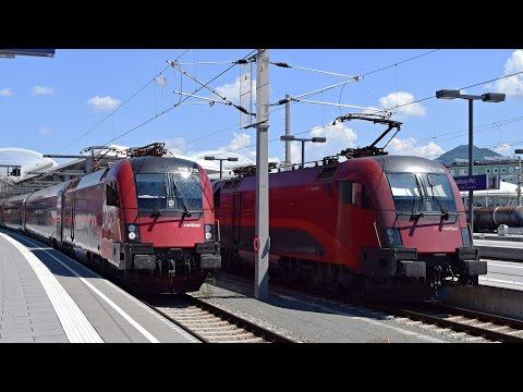 Züge Salzburg Hbf, 19.07.2016